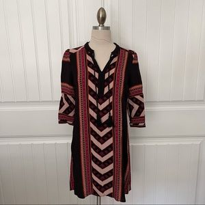 Patterned Dress with Tassel Detail